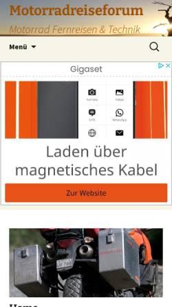 Vorschau der mobilen Webseite www.motorradreiseforum.de, Motorradreiseforum