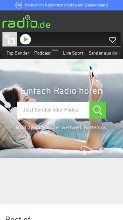 Vorschau der mobilen Webseite www.radio.de, Radio.de GmbH