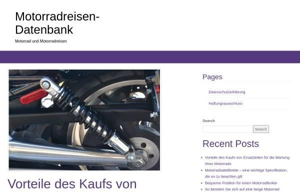 Vorschau von www.motorradreisendatenbank.de, Motorrad-Reisen-Datenbank