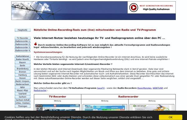 Vorschau von www.web-recorder.de, Web-Recorder.de
