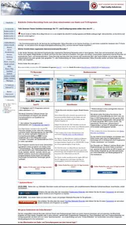 Vorschau der mobilen Webseite www.web-recorder.de, Web-Recorder.de