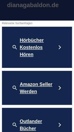 Vorschau der mobilen Webseite www.dianagabaldon.de, Diana Gabaldon