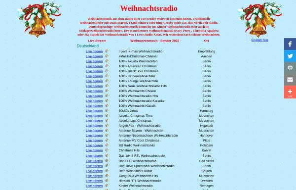Vorschau von www.weihnachtsradio.de, Weihnachtsradio