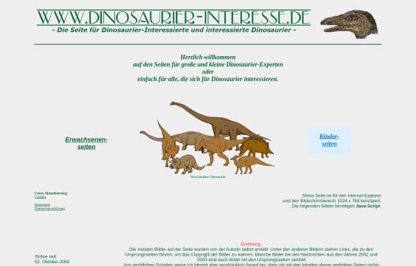 Vorschau von www.dinosaurier-interesse.de, Dinosaurier-Interesse