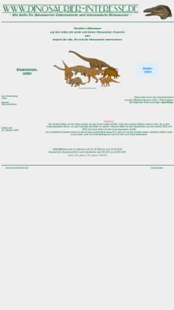 Vorschau der mobilen Webseite www.dinosaurier-interesse.de, Dinosaurier-Interesse