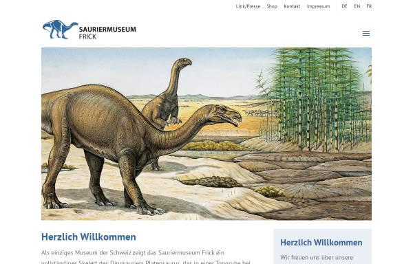 Vorschau von www.sauriermuseum-frick.ch, Sauriermuseum Frick