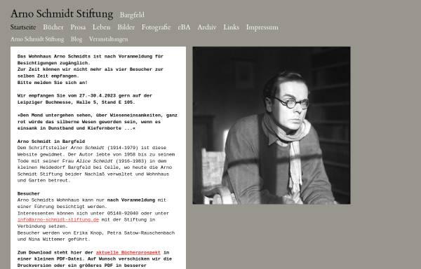 Vorschau von www.arno-schmidt-stiftung.de, Arno Schmidt Stiftung
