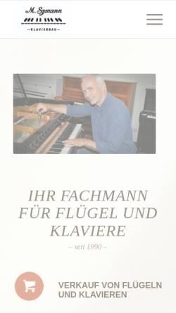 Vorschau der mobilen Webseite www.klavierbau-symann.de, Klavierbau Symann