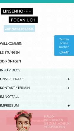 Vorschau der mobilen Webseite www.maulartisten.de, Linsenhoff und Poganiuch - Maulartisten