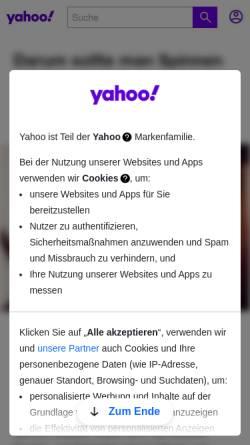 Vorschau der mobilen Webseite de.news.yahoo.com, Yahoo! Deutschland - Schlagzeilen