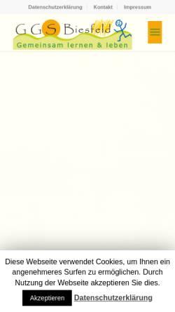 Vorschau der mobilen Webseite www.ggs-biesfeld.de, Gemeinschaftsgrundschule Biesfeld