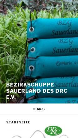 Vorschau der mobilen Webseite www.berg-und-tal.info, Deutscher Retriever Club (DRC), Bezirksgruppe Sauerland