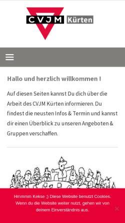 Vorschau der mobilen Webseite www.cvjm-kuerten.de, CVJM-Kürten