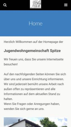 Vorschau der mobilen Webseite www.jwg-spitze.de, Jugendwohngemeinschaft Spitze
