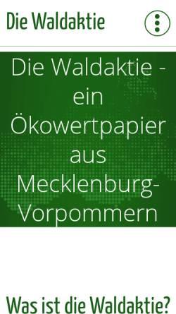 Vorschau der mobilen Webseite www.waldaktie.de, Waldaktie