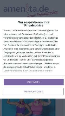 Vorschau der mobilen Webseite www.amenita.de, Amenita.de