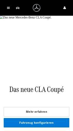 Vorschau der mobilen Webseite www.mercedes-benz.de, Mercedes-Benz Deutschland