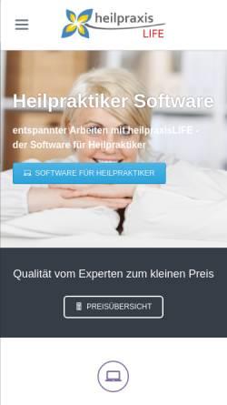 Vorschau der mobilen Webseite www.heilpraxislife.de, EDV-Beratung Stefan Lackermeier