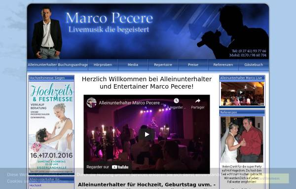 Vorschau von www.marco-live.de, Pecere, Marco