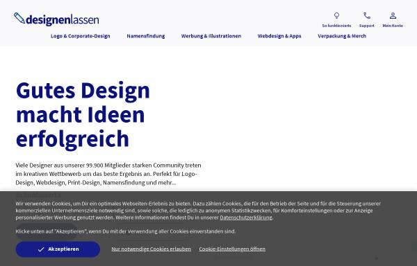 Vorschau von www.designenlassen.de, Designenlassen.de - Marktplatz für Kreativdienstleistungen GmbH