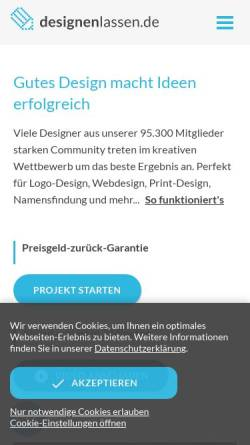 Vorschau der mobilen Webseite www.designenlassen.de, Designenlassen.de - Marktplatz für Kreativdienstleistungen GmbH