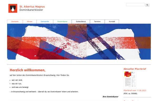 Vorschau von www.dominikaner-braunschweig.de, Dominikanerkloster