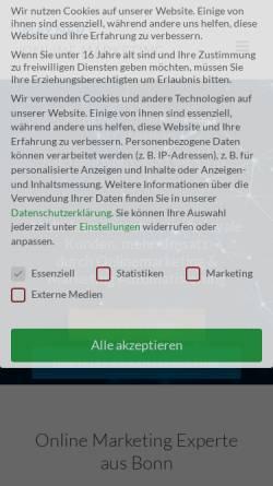 Vorschau der mobilen Webseite www.maynert.de, Maynert Online Marketing, Sascha Maynert