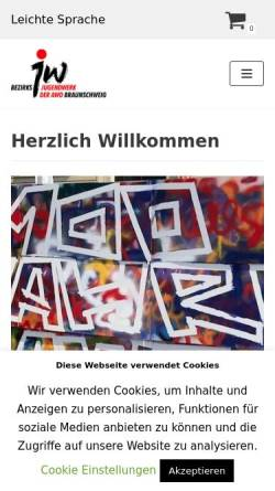 Vorschau der mobilen Webseite www.jw-braunschweig.de, Jugendwerk der AWO