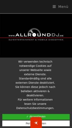 Vorschau der mobilen Webseite www.allrounddj.de, DJ Harry Hermann