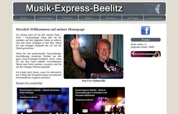 Vorschau von www.musik-express-beelitz.de, Musik-Express-Beelitz