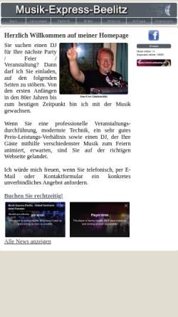 Vorschau der mobilen Webseite www.musik-express-beelitz.de, Musik-Express-Beelitz
