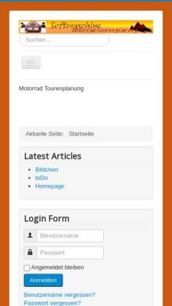 Vorschau der mobilen Webseite www.softmaschine.de, Softmaschine Motorrad Tourenplanung