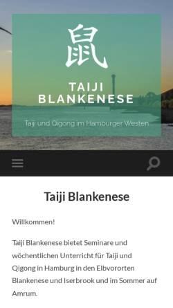 Vorschau der mobilen Webseite www.taiji-blankenese.de, Taiji und Qigong mit Carl-Matthias Koch
