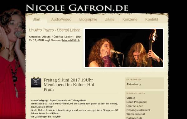 Vorschau von www.nicole-gafron.de, Gafron, Nicole