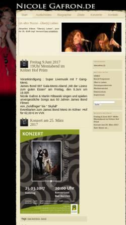 Vorschau der mobilen Webseite www.nicole-gafron.de, Gafron, Nicole