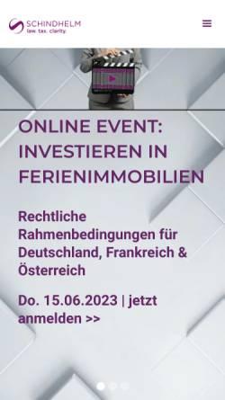 Vorschau der mobilen Webseite www.schindhelm.com, Saxinger Chalupsky & Partner Rechtsanwälte GmbH