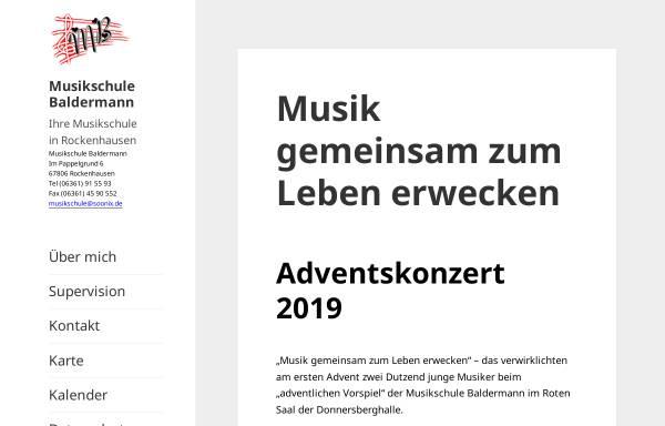 Vorschau von www.musikschule-baldermann.de, Musikschule Baldermann