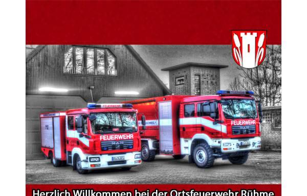 Vorschau von www.feuerwehr-ruehme.de, Ortsfeuerwehr Rühme