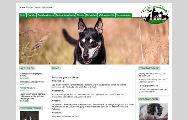 Vorschau von www.tierschutz-braunschweig.de, Tierschutz in Braunschweig - Tierrettungsdienst