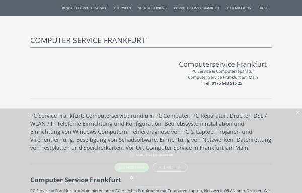 Vorschau von www.computer-service-frankfurt.info, Computer Service Frankfurt