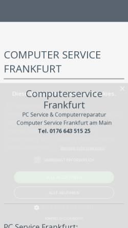 Vorschau der mobilen Webseite www.computer-service-frankfurt.info, Computer Service Frankfurt