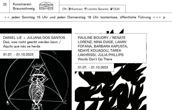 Vorschau von kunstverein-bs.de, Kunstverein Braunschweig