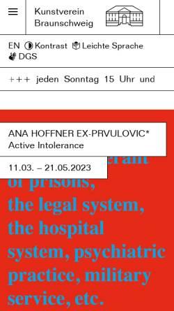 Vorschau der mobilen Webseite kunstverein-bs.de, Kunstverein Braunschweig