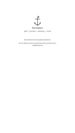 Vorschau der mobilen Webseite www.farbmeer.de, Farbmeer