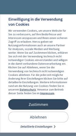 Vorschau der mobilen Webseite tuicruises.com, TUI CRUISES GmbH