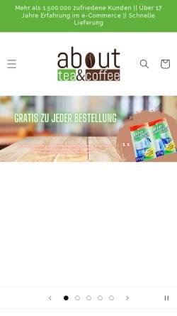 Vorschau der mobilen Webseite www.about-tea.de, G + L GmbH , About-Tea & Coffee Shop