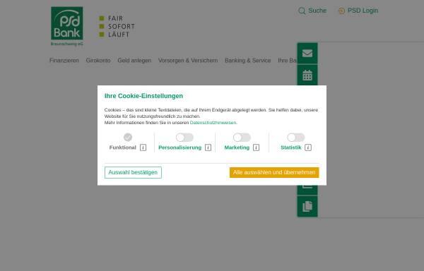 Vorschau von www.psd-braunschweig.de, PSD Bank Braunschweig eG