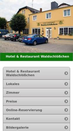 Hotel Restaurant Waldschlosschen In Klieken In Coswig Anhalt