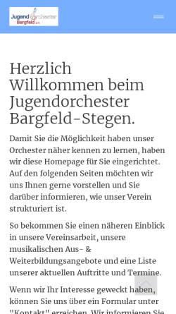 Vorschau der mobilen Webseite www.jugendorchester-bargfeld.de, Jugendorchester Bargfeld e.V.