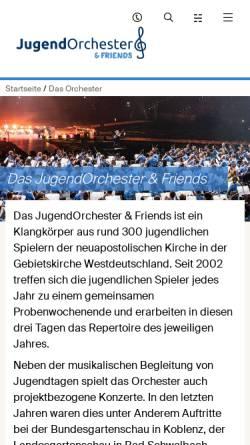 Vorschau der mobilen Webseite www.jugendtag-orchester.de, Jugendorchester Hessen, Rheinland-Pfalz, Saarland